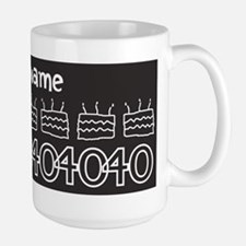 Personalized Black 40th Birthday Gag Gift Mugs
