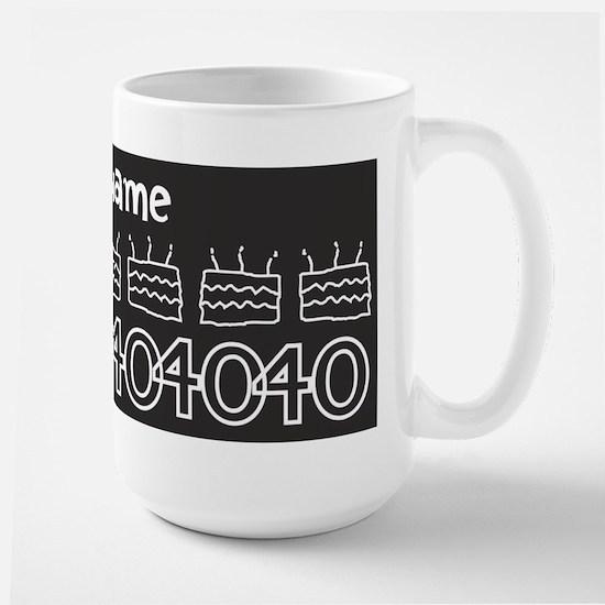 Personalized Black 40th Birthday Gag Gift Mugs