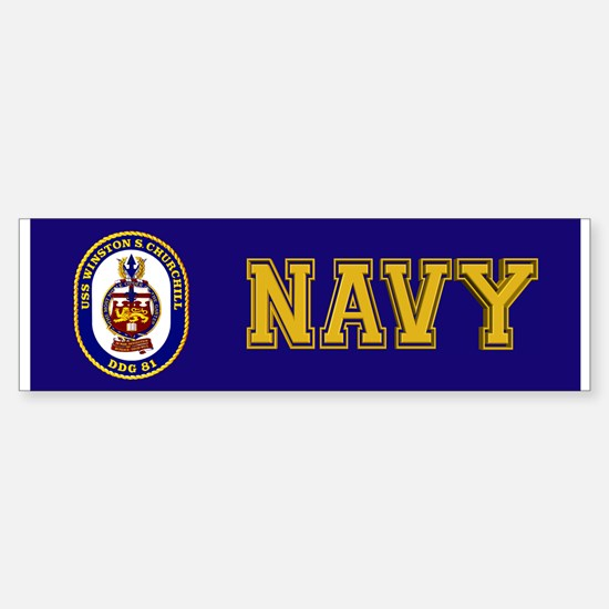 USS Churchill DDG-81 Sticker (Bumper)