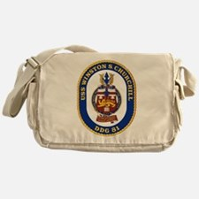 USS Churchill DDG-81 Messenger Bag