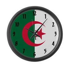 Flag of Algeria Large Wall Clock