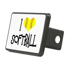 I Love Softball Hitch Cover