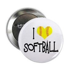 "I Love Softball 2.25"" Button (10 pack)"
