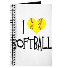 I Love Softball Journal