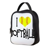 Softball player Neoprene Lunch Bag