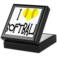 I Love Softball Keepsake Box