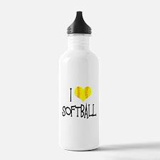 I Love Softball Water Bottle