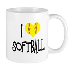 I Love Softball Mugs