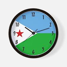 Flag Of Djibouti Wall Clock