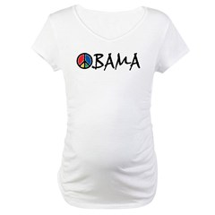 Obama Peace Maternity T-Shirt