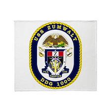 USS Zumwalt DDG 1000 Throw Blanket