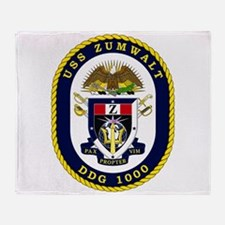 USS Zumwalt DDG 1000 Throw Blanket