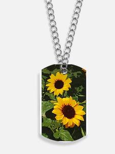 Unique Sunflowers Dog Tags