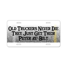 Cute 18 wheeler Aluminum License Plate