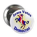 Iowa Votes Democrat Button