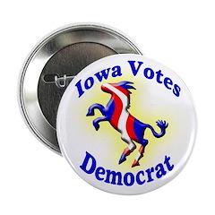 Iowa Votes Democrat Button
