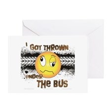Under the Bus-Design 3 Greeting Card