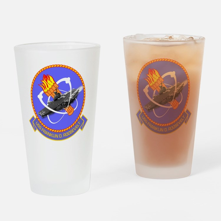 USS Franklin D. Roosevelt CVB-42 Drinking Glass