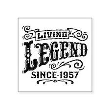 "Living Legend Since 1957 Square Sticker 3"" x 3"""