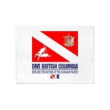Dive British Columbia 5'x7'Area Rug