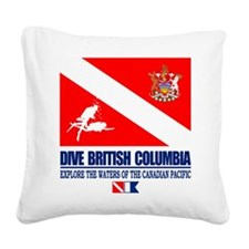 Dive British Columbia Square Canvas Pillow