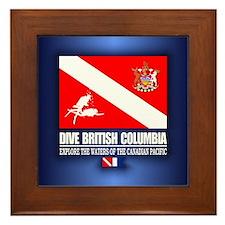 Dive British Columbia Framed Tile