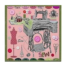 Sew-Sew Tile Coaster