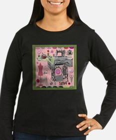Sew-Sew Women's Dark Long Sleeve T-Shirt