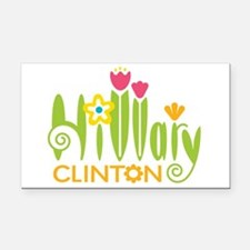 Hillary Flowers Rectangle Car Magnet