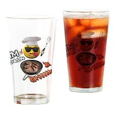 Chillin & Grillin Design 1 Drinking Glass