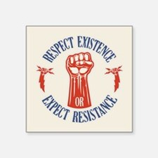 "Expect Respect Square Sticker 3"" x 3"""