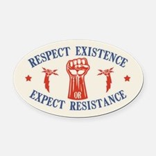 Expect Respect Oval Car Magnet