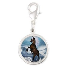 Beautiful horse with white mane Charms