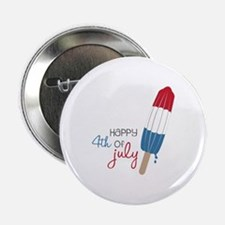 """Happy 4th Of July 2.25"""" Button"""