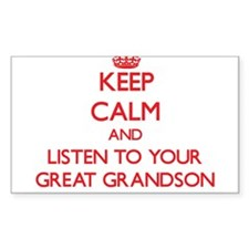 Keep Calm and Listen to your Great Grandson Sticke