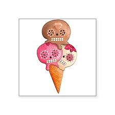 El Dia de Los Muertos Ice Cream Sticker