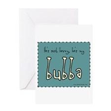 3-bubber_not_heavy2a Greeting Cards