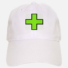 Neon Green Medical Cross (Bold) Baseball Baseball Baseball Cap