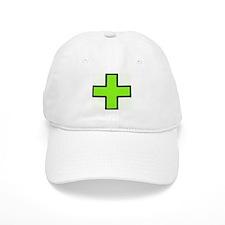 Neon Green Medical Cross (Bold) Baseball Baseball Cap