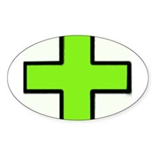 Neon Green Medical Cross (Bold) Decal
