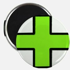 Neon Green Medical Cross (Bold) Magnets