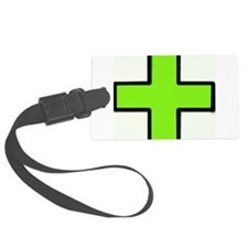 Neon Green Medical Cross (Bold) Luggage Tag