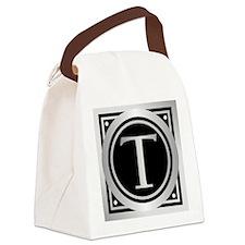 Deco Monogram T Canvas Lunch Bag