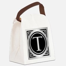 Deco Monogram T Canvas Lunch Bag