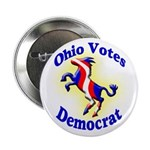 Ohio Votes Democrat Button