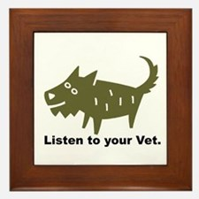 Listen to your Vet Framed Tile