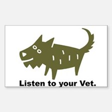 Listen to your Vet Rectangle Decal