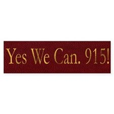 Yes We Can 915! Leather Bumper Bumper Sticker