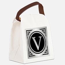 Deco Monogram V Canvas Lunch Bag