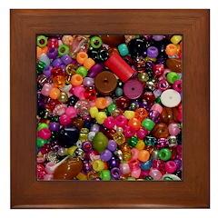 Colorful Beads - Crafty Framed Tile